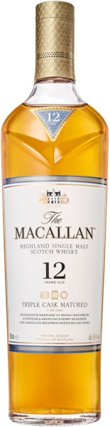 The Macallan Whisky Triple Cask 12 Jahre 0,7l