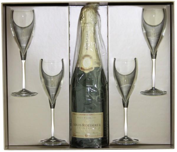 Roederer Champagner zu viert