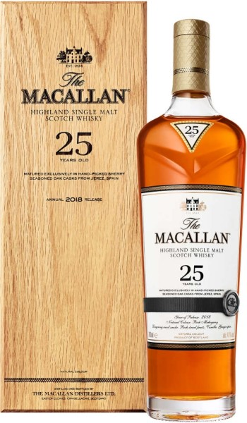 The Macallan Whisky Sherry Oak 25 Jahre 0,7l