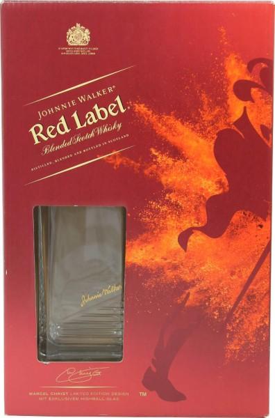 Johnnie Walker Red Label 0,7 l mit Glas