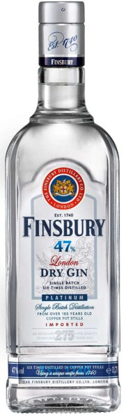 Finsbury Platinum London Dry Gin 47 0,7 Liter