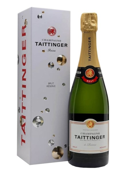 Taittinger Champagner Brut Reserve in Bubble Geschenkpackung