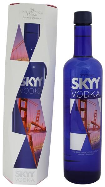 Skyy Vodka City Edition San Francicso Flasche mit Geschenkkarton