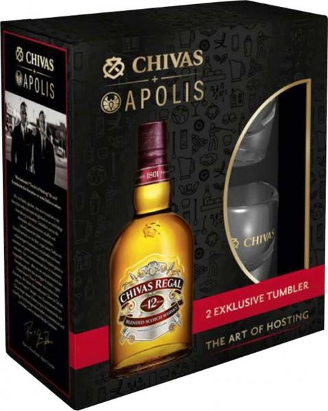 Chivas Regal 12 yrs. mit 2 Gläsern