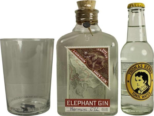 Elephant Gin Geschenkbox mit Thomas Henry Tonic Water