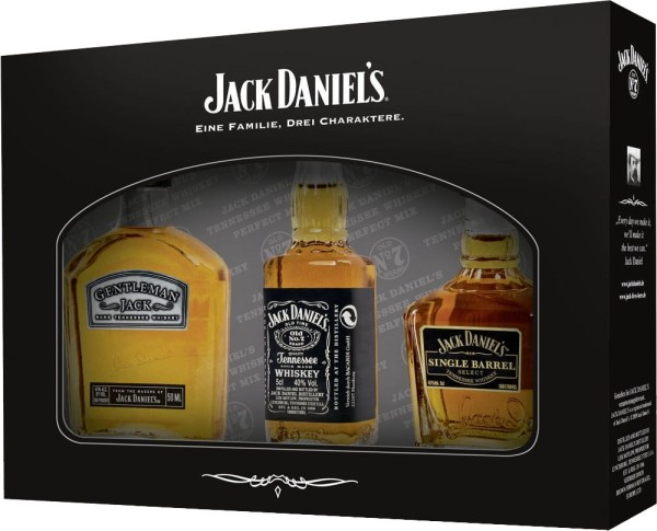 Jack Daniels Whiskey 3er Miniaturen Set